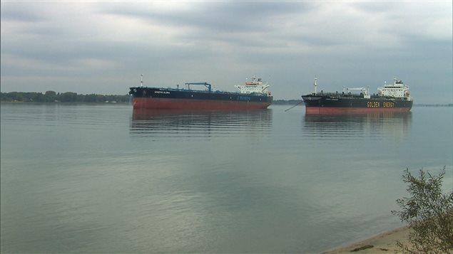 Des pétroliers sur le Saint-Laurent