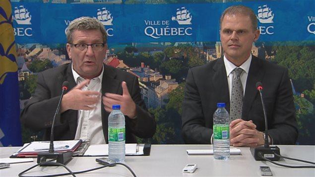 Régis Labeaume et Benoît Robert