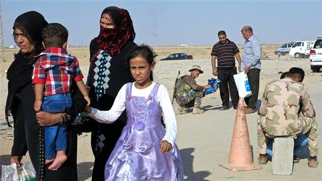Le point de passage vers le Kurdistan au sud de Kirkouk