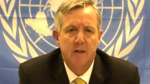 Anthony Banbury, le représentant spécial et chef de la mission de Nations unies pour la lutte contre Ebola