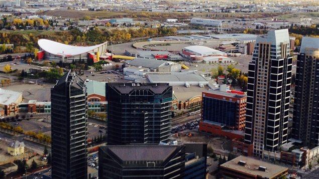 La ville de Calgary, en Alberta