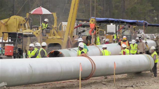 Construction du pipeline Énergie Est de TransCanada
