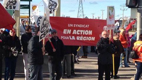 Manifestation à Baie-Comeau