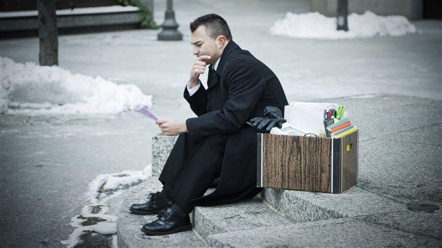 Un homme ayant perdu son emploi
