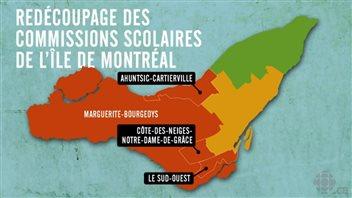 Redécoupage des commissions scolaires de l'île de Montréal