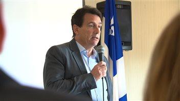 Pierre Karl Péladeau, à l'assemblée générale du PQ dans Maskinongé, le 29 novembre