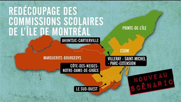 Québec travaille sur un nouveau scénario de réorganisation des commissions scolaires.