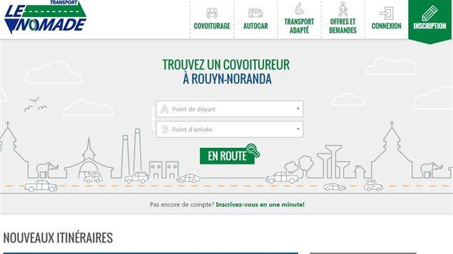La plateforme web de Transport Le Nomade