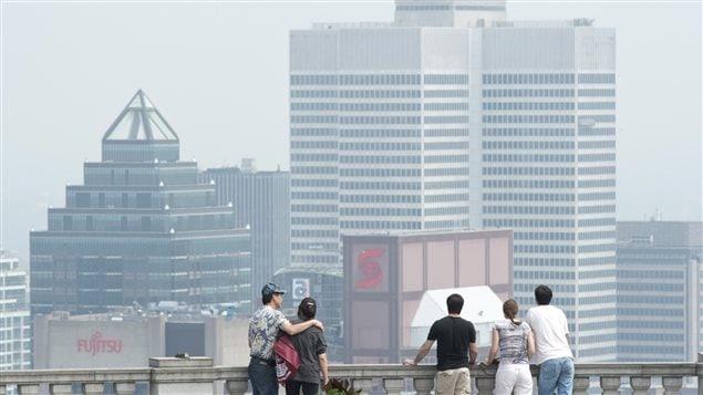 Une journée de smog à Montréal, en juillet 2013