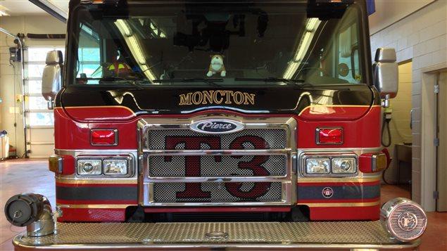 Camion de pompier du service des incendies de Moncton