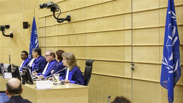 Les juges de la CPI lors du procès du Congolais Thomas Lubanga, le 1er décembre 2014