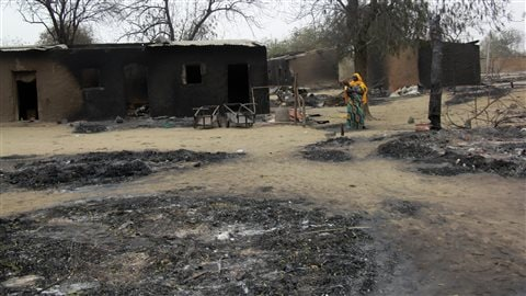 La ville de Baga après une attaque de Boko Haram en avril 2013