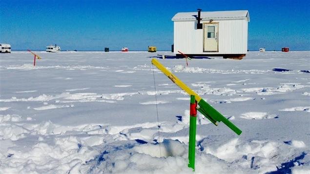 Pêche blanche sur le lac Saint-Pierre