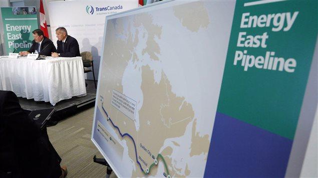 Le trajet de l'oléoduc Énergie Est de TransCanada (archives)