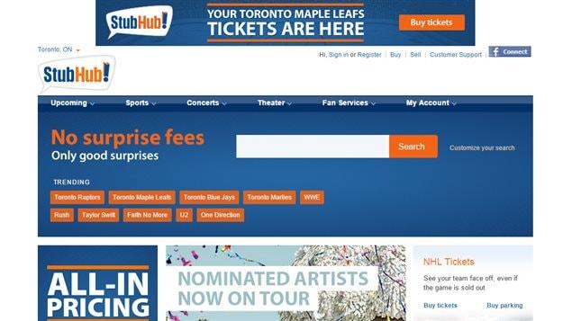 Le site StubHub se décrit comme le numéro un mondial de la revente de billets.