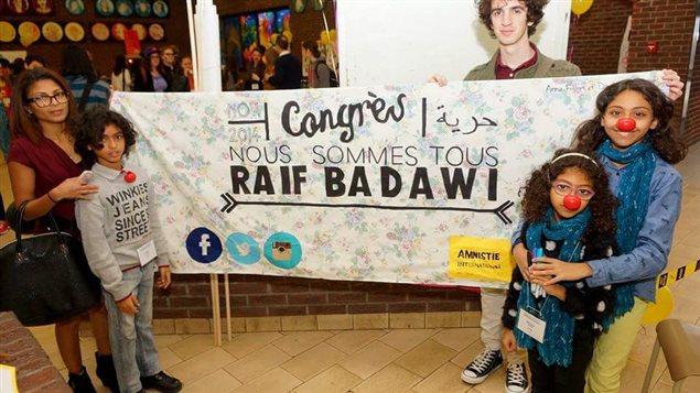 Ensaf Haidar et ses enfants ont lancé une campagne pour faire libérer Raïf Badawi.