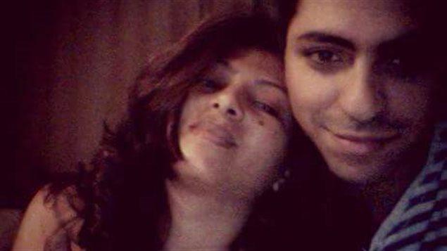 Ensaf Haïdar en compagnie de son mari, Raïf Badawi