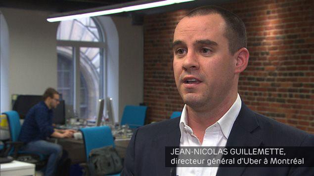 Jean-Nicolas Guillemette, directeur d'Uber au Québec