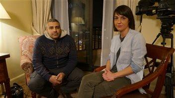Mohamed Fahmy et la journaliste Marie-Ève Bédard