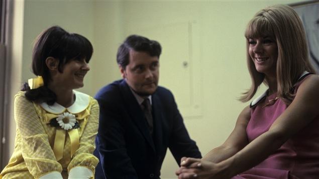 Les comédiennes Dominique Michel et Denise