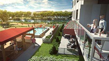 Une piscine sera aménagée sur le site.