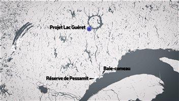 Le projet de mine au lac Guéret