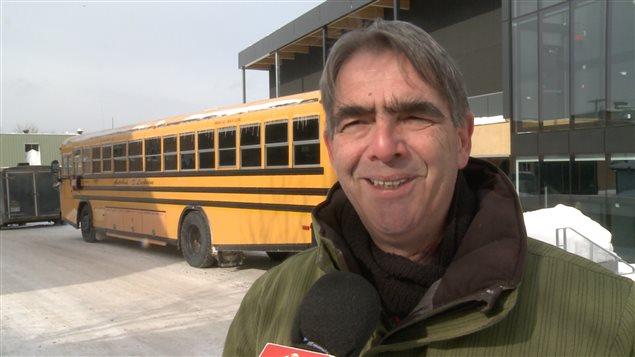 Claude Boudrias, responsable du transport scolaire et Secrétaire général, Commission scolaire Pierre-Neveu.