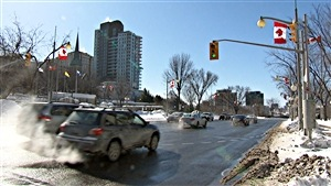 Un matin froid d'hiver à Ottawa (février 2015).