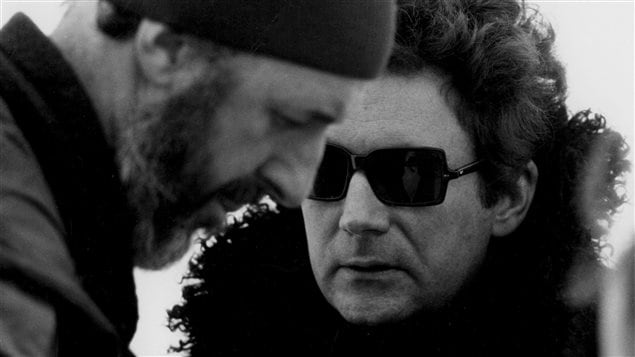 Michel Brault et Claude Jutra, image tirée du film <em>ONF un survol : Claude Jutra</em>