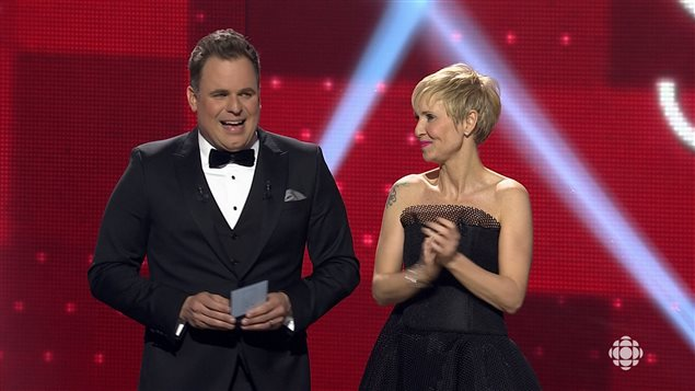 Stéphane Bellavance et Pénélope McQuade animent la 17e Soirée des Jutra.