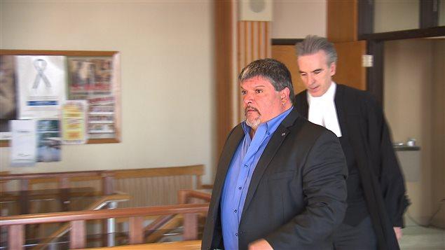 Le procès du maire de Baie-Trinité, Denis Lejeune, au palais de justice de Baie-Comeau