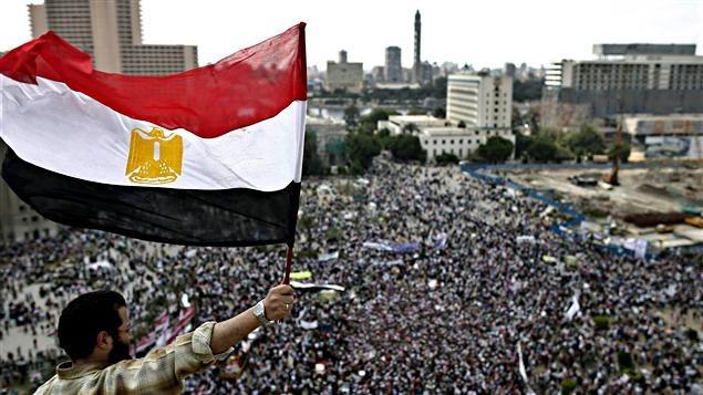 Place Tahrir, Le Caire, Égypte, 8 avril 2011