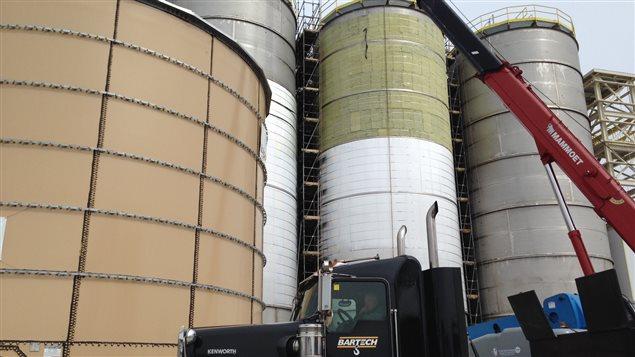 Les cuves de BioAmber, où le sirop de maïs fermente avec une levure pour faire de l'acide succinique.