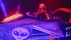 Le DJ Skrillex au Austin City Limits Music Festival en 2014.