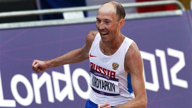 Sergei Kirdyapkin pourrait perdre sa médaille d'or de Londres