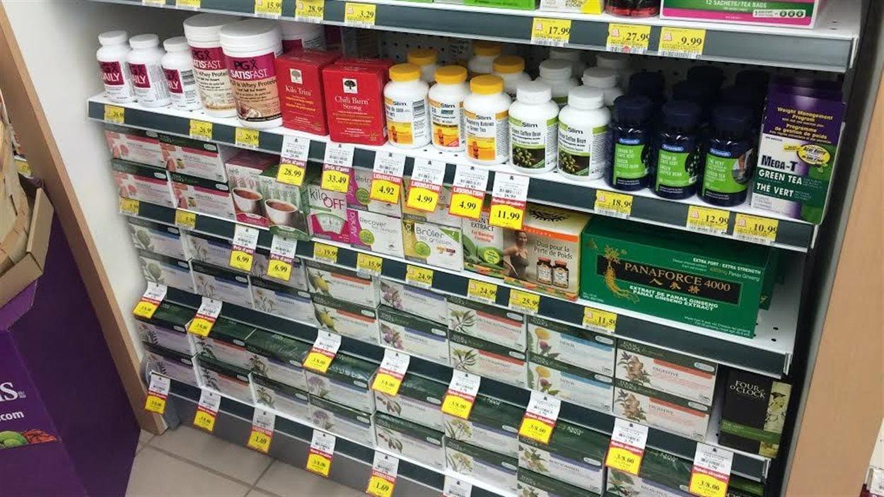 Produits amaigrissants en pharmacie