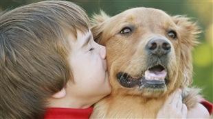 Un enfant et un chien