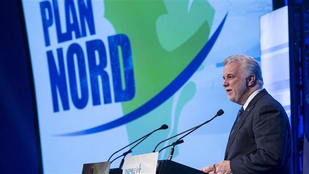 Le premier ministre Philippe Couillard présente à Montréal, la nouvelle version du Plan nord.