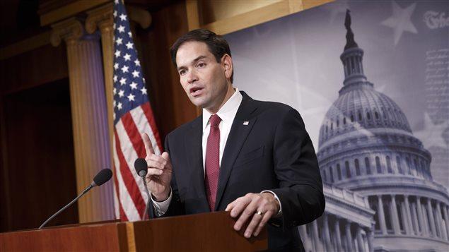 Marco Rubio, lors d'un discours à Washington en décembre dernier