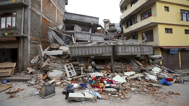 Immeuble détruit par le séisme au Népal