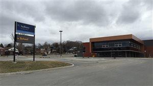 Une école secondaire du conseil scolaire Rainbow à Sudbury.