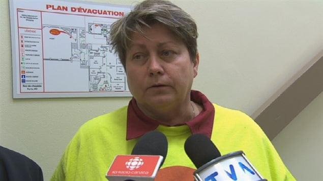 Aline Beaudoin, présidente du Syndicat de l'enseignement du Saguenay