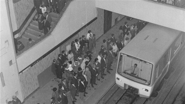 L'inauguration du métro de Montréal, en 1966