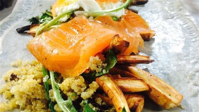 Recette: Salade de panais caramélisé, de saumon fumé et de ...