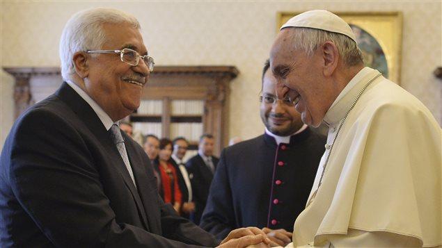 Le président de l'autorité palestinienne reçu par le pape François