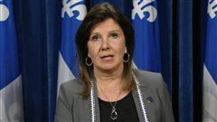 La porte-parole du Parti québécois en matière de santé, Diane Lamarre