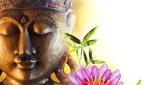 Le visage d'un bouddha