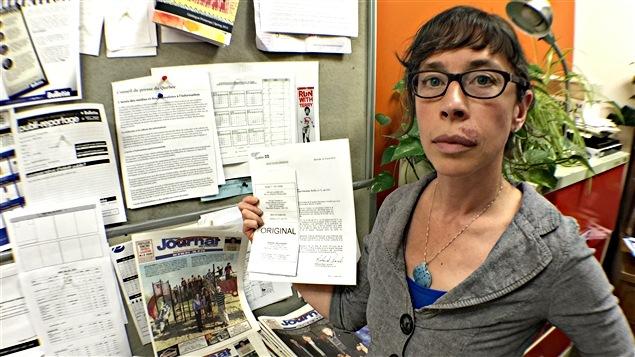 La coéditrice du Journal du Pontiac, Lily Ryan.