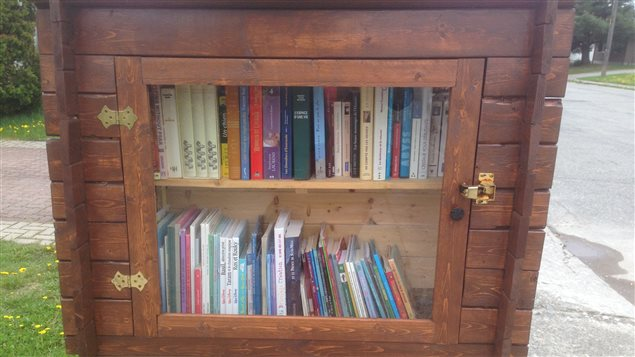 Une des bibliothèques de rue à Val-d'Or