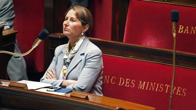 La ministre française de l'Écologie, Ségolène Royal, lors d'un débat à l'Assemblée nationale.